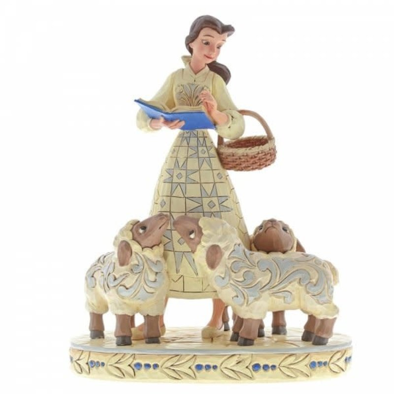Disney Traditions Disney - Bookish Beauty - Belle with Sheep White Woodland