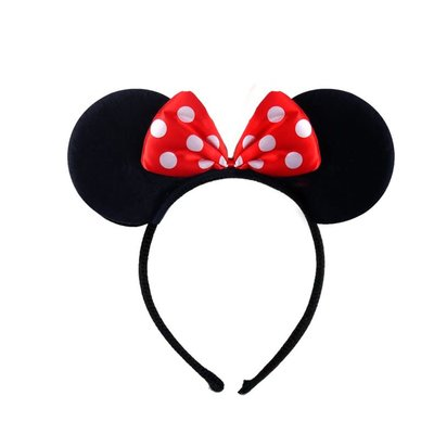 Henbrandt Ltd Mouse Ears Headband with Red Bow