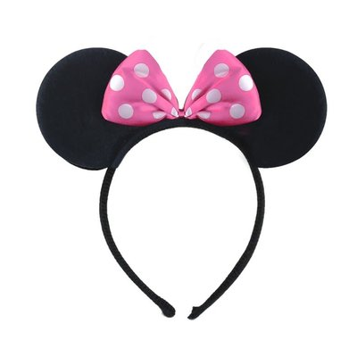 Henbrandt Ltd Mouse Ears Headband with Pink Bow