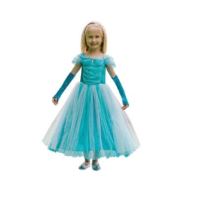 Travis Designs Turquoise Sparkle Princess Costume - Age 3/5 years