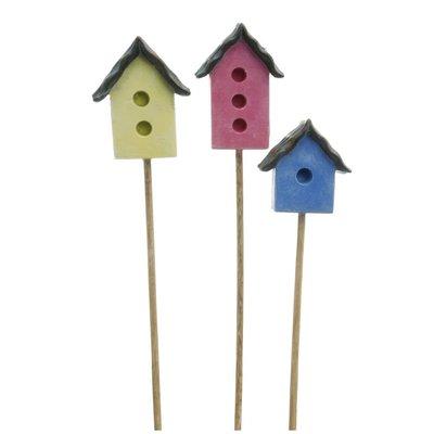 Woodland Knoll Woodland Knoll - Resin Festive Bird House set of 3