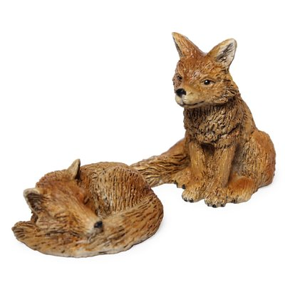 Woodland Knoll Woodland Knoll - Resin Foxes (Set of 2)
