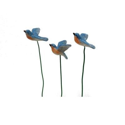 Woodland Knoll Woodland Knoll - Resin Blue Birds (Set of 3)