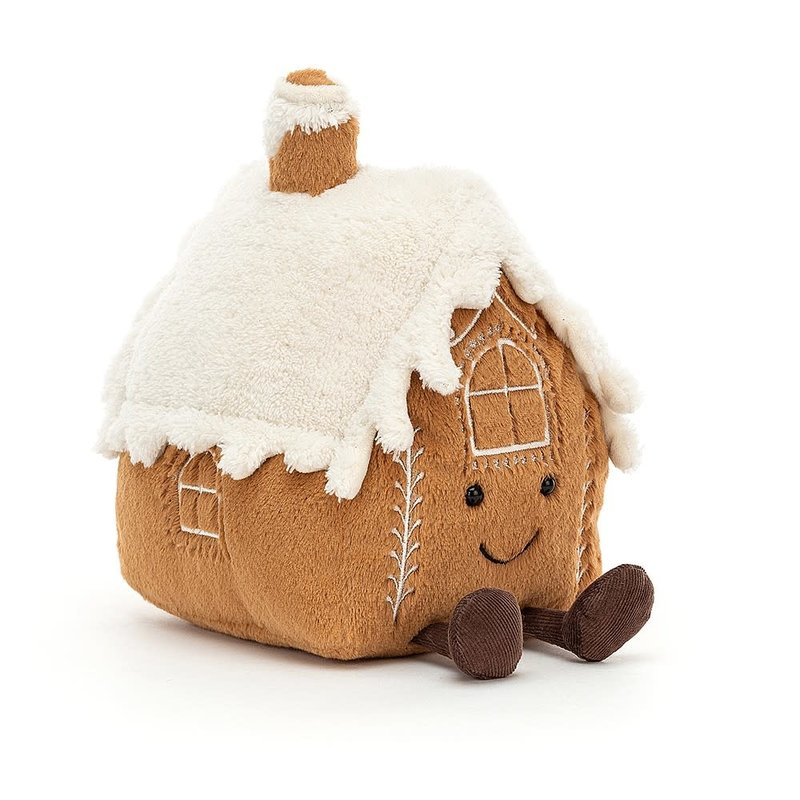 Jellycat - Festive Jellycat - Amuseable Gingerbread House