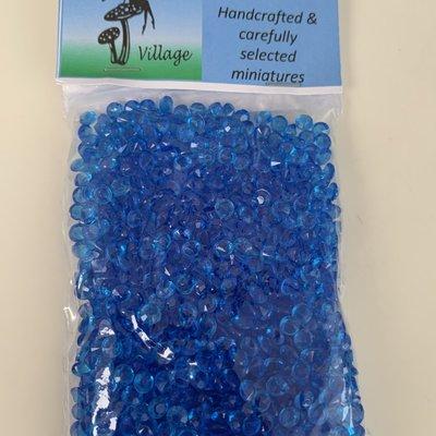 Fairy Village Acrylic Diamond Confetti Blue Beads - 4.5mm
