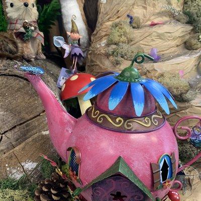 Fairy Kingdom Fairy Kingdom - Pink Teapot Fairy House