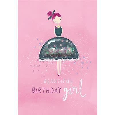 Hotchpotch Birthday Girl Glitter Ball Birthday Card
