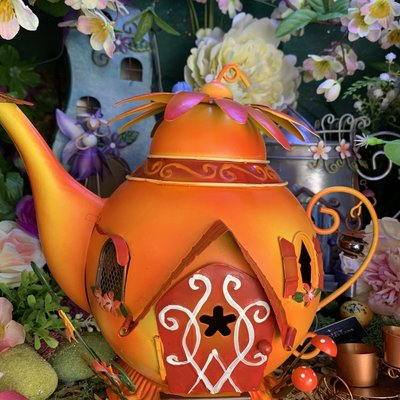 Fairy Kingdom Fairy Kingdom - Orange Teapot Fairy House