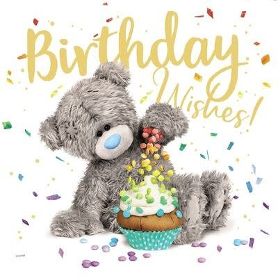 Me to You Birthday Bear with Cup Cake Birthday Card