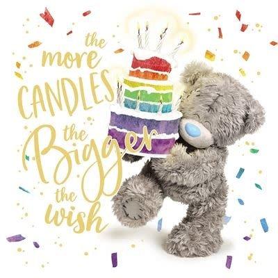 Me to You Birthday Bear with Cake Birthday Card