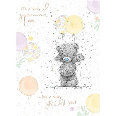 Me to You Birthday Bear with Balloons Birthday Card