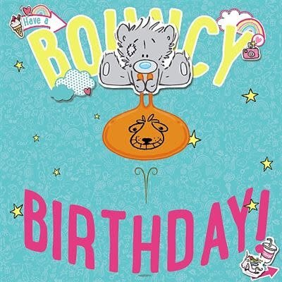 Me to You Birthday Bear on Space Hopper Card