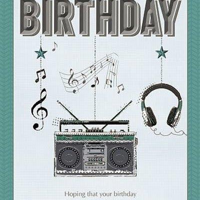 Wishing Well Studios Stereo Birthday Card