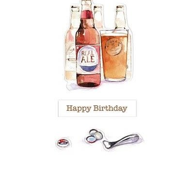 Wishing Well Studios Bottle of Ale Birthday Card