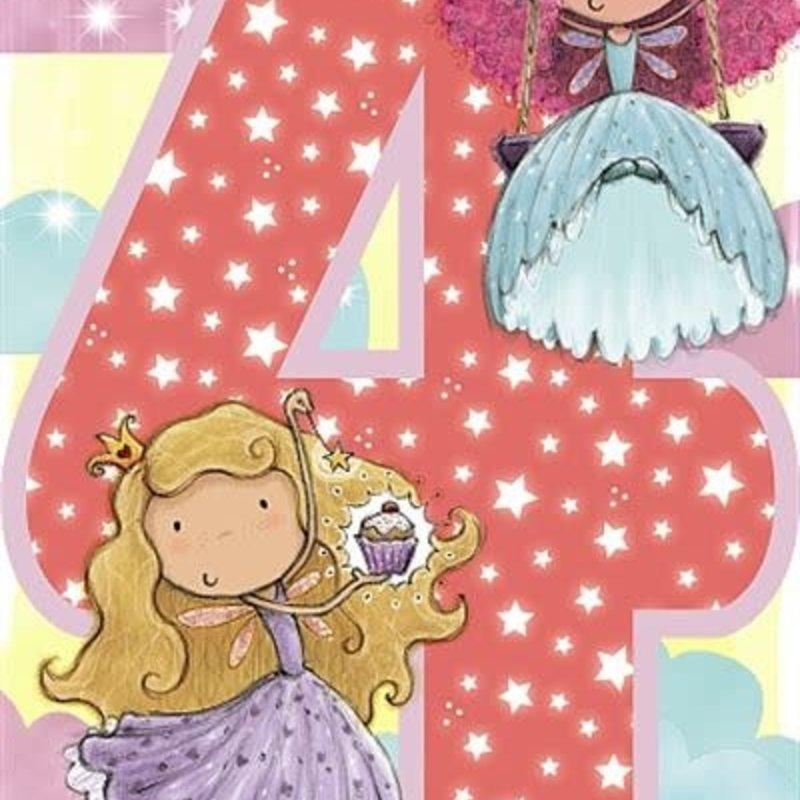 Wishing Well Studios Fairy Princess 4th Birthday Card