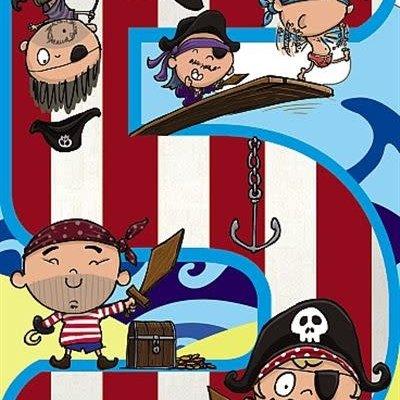 Wishing Well Studios Pirates 5th Birthday Card