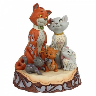 Disney Traditions Disney - Pride & Joy - Aristocats Carved by Heart
