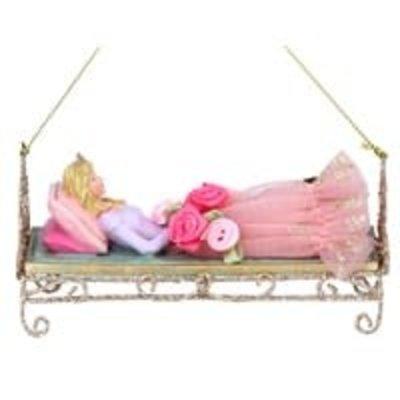 Gisela Graham Resin Sleeping Beauty Hanging Tree Decoration