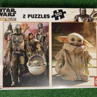Educa 2 x 500pcs Star Wars the Mandalorian Puzzles