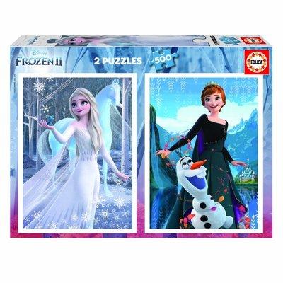 Educa 2 x 500pcs Disney Frozen II Puzzles