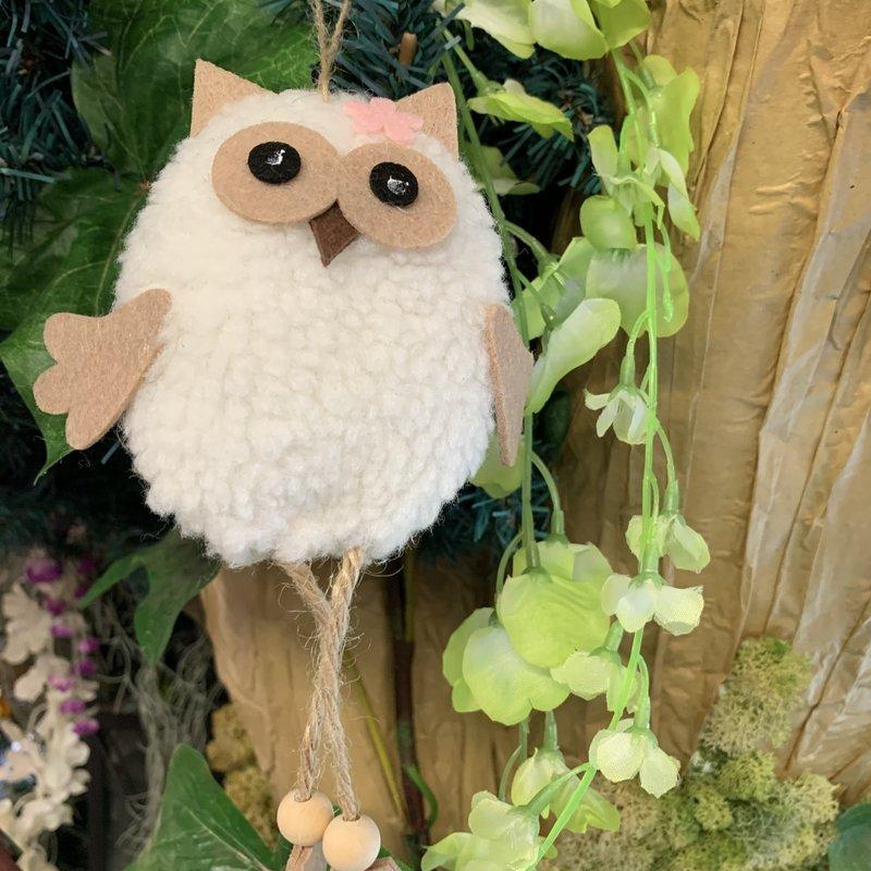 Shudehill Giftware Ollie Hanging Owl - White