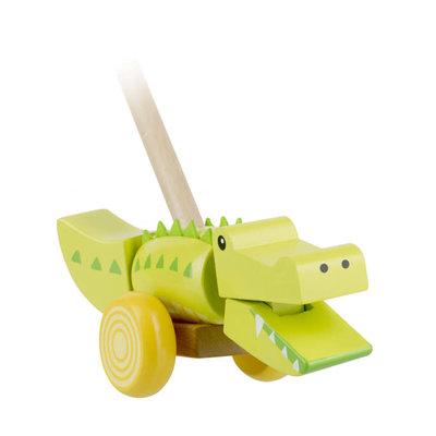 Orange Tree Toys Push Along Crocodile