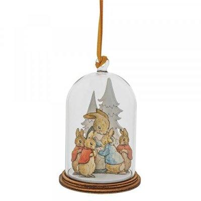 Peter Rabbit Peter Rabbit & Family at Christmas - Wooden Hanging Decoration