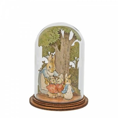 Peter Rabbit Mrs Rabbit with Flopsy, Mopsy, Cotton tail & Peter Wooden Figurine