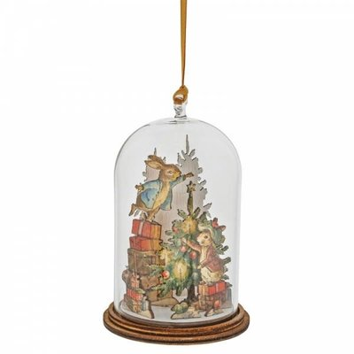 Peter Rabbit Peter & Benjamin Bunny Christmas - Wooden Hanging Decoration