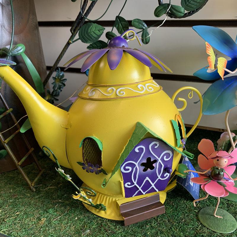 Fairy Kingdom Fairy Kingdom - Yellow Teapot Fairy House