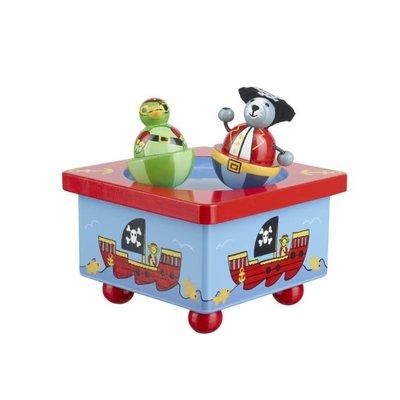 Orange Tree Toys Music Box - Animal Pirate