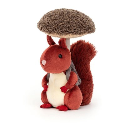 Jellycat - Little Legs Jellycat - Fungi Forager Squirrel