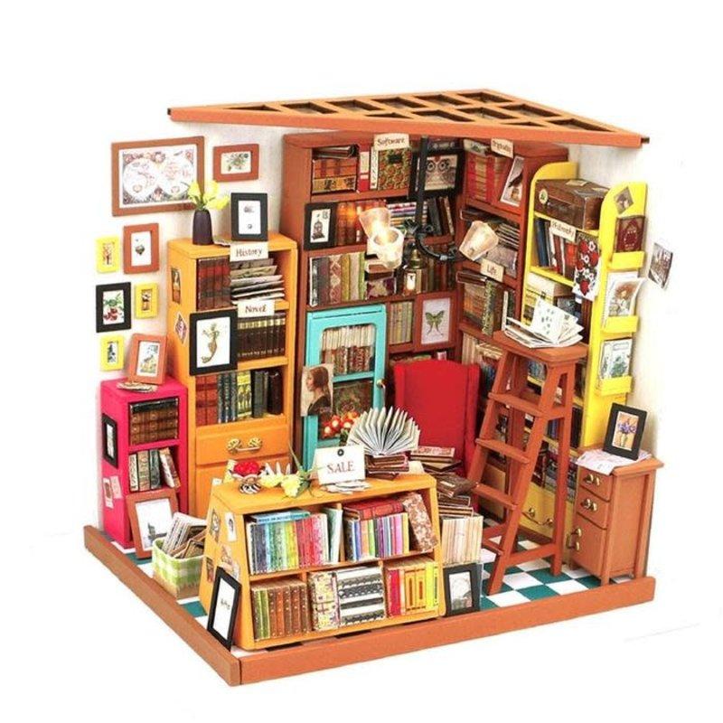 Rolife Rolife Sam's Study DG102 - Library DIY Miniature Dollhouse