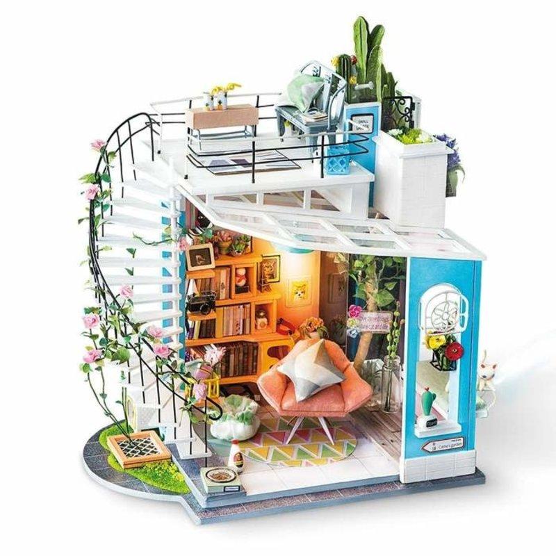 Rolife Rolife Dora's Loft DG12 - DIY Miniature Dollhouse Duplex Apartment