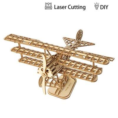 Rolife Rolife Bi - Plane TG301 - 3D Wooden Puzzle Kit