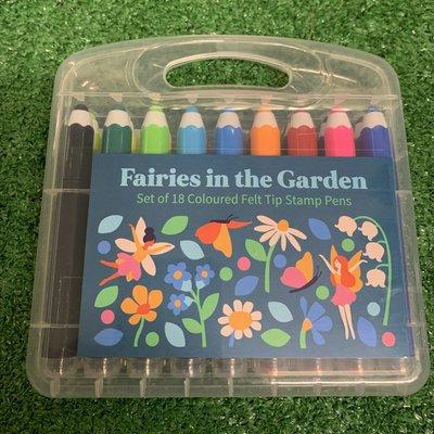 Rex London 18 Colour Felt Tip Stamp Pens - Fairies in the Garden
