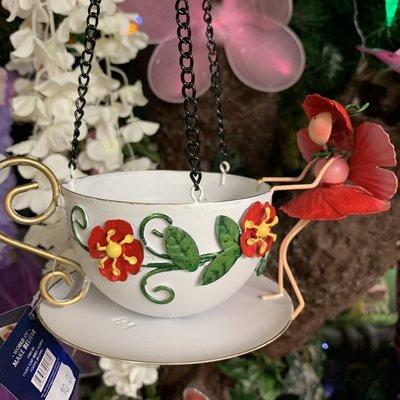 World of Make Believe Fairy Hanging Teacup Feeder - Poppy