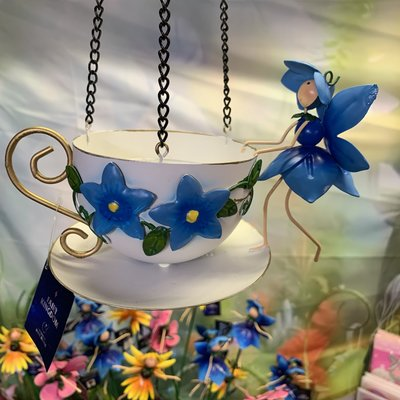 World of Make Believe Fairy Hanging Teacup Feeder - Forget Me Not Phoebe