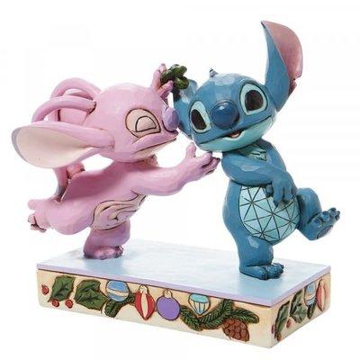 Disney Traditions Disney - Stitch & Angel with Mistletoe Figurine