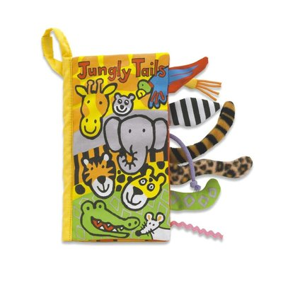 Jellycat - Soft Book Jellycat -Jungly Tails Book