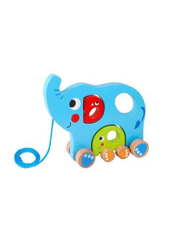 Houten speelgoed - elephant family