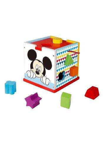 Houten blokkenkubus Mickey