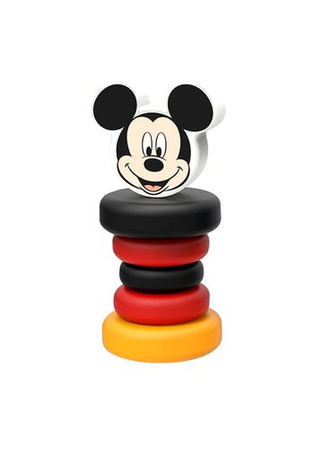 Houten rammelaar Mickey