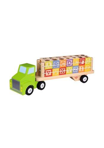 Houten vrachtwagen