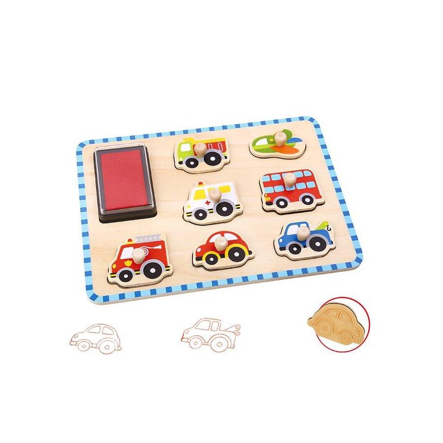 Stempel puzzel voertuigen-1