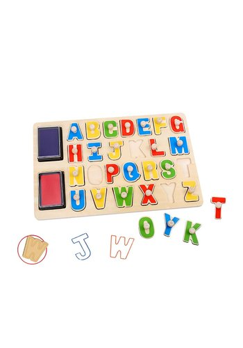 Stempel puzzel alfabet