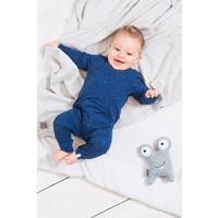 thumb-Playsuit Jollein speckled blue-4