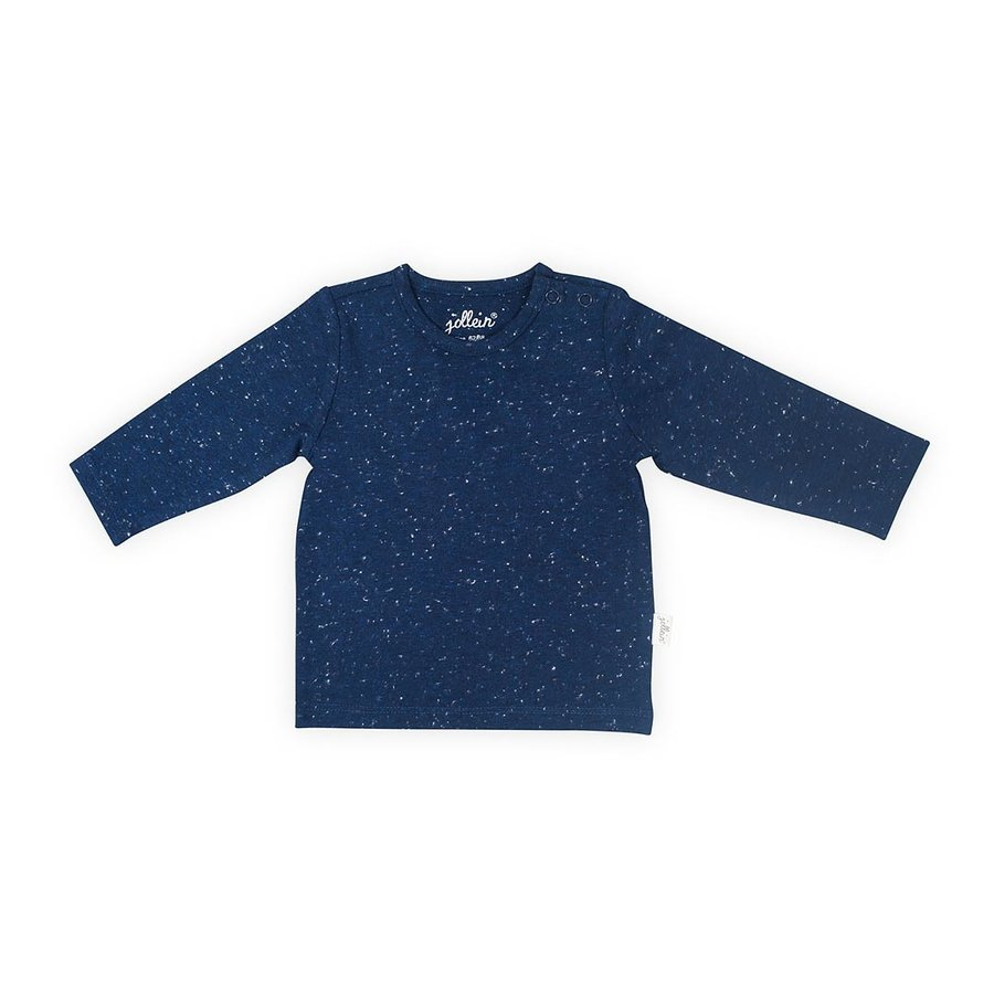 T-shirt Jollein speckled blue-1