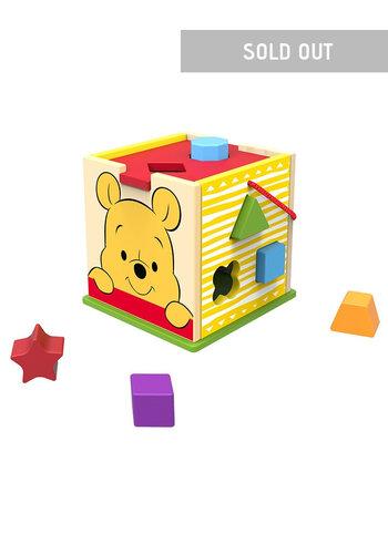 Houten blokkenkubus Winnie The Pooh