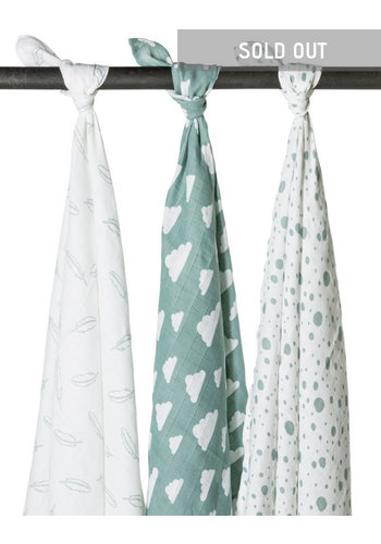 Hydrofiele swaddles feathers-clouds-dots